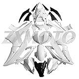 ZXMOTO Unpainted Motorcycle Fairing Kit for 2008 2009 2010 2011 2012 2013 2014 2015 2016 Y...