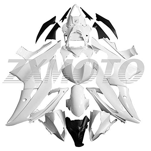 ZXMOTO Unpainted Motorcycle Fairing Kit for 2008 2009 2010 2011 2012 2013 2014 2015 2016 Yamaha YZF R6 Fairings Set