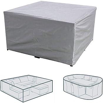dDanke Funda Protectora para Muebles de jardín al Aire Libre, Impermeable, Resistente al Viento, para mesas de jardín y Salones: Amazon.es: Jardín