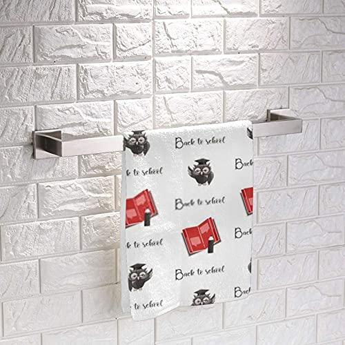 Erudite Owl Back to School Squares Wash Soft Hand Towel Cozy Mini Classic Cloth Toallas para la cara de los niños niña niño 33 x 33 pulgadas 3 piezas