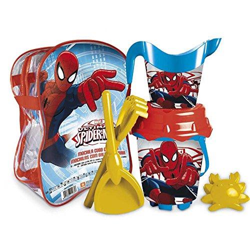 Ultimate Spiderman - Mochila Cubo Castillo, Juguete para Playa (Mondo Toys 28266)
