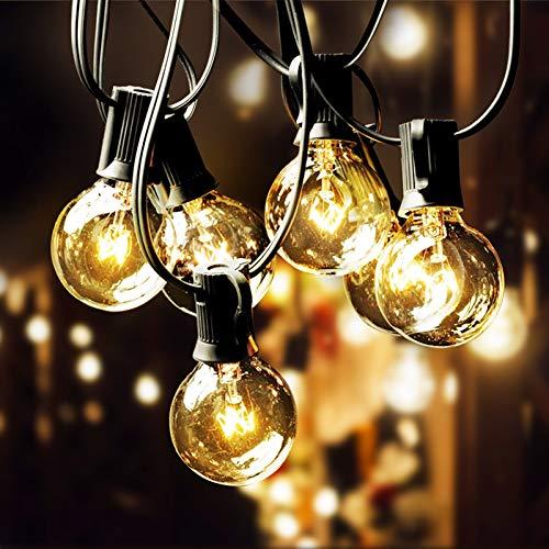Elegear 33Ft Festoon Lights Outdoor String Lights IP65 Waterproof Garden String Light for Patio, Yard, Christmas, Party and Wedding [Energy Class A++]