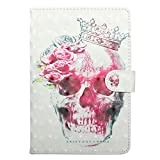 JIan <span class='highlight'>Ying</span> Case for Samsung Galaxy Tab A 10.1 (2016) SM-T580 T585 Tablet Slim 3D Patterns Cover Protector Skull