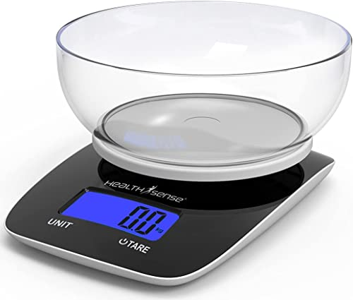HealthSense Chef-Mate KS 33 Digital Kitchen Weighing Scale & Food Weight Machine for Health, Fitness, Home Baking & C...