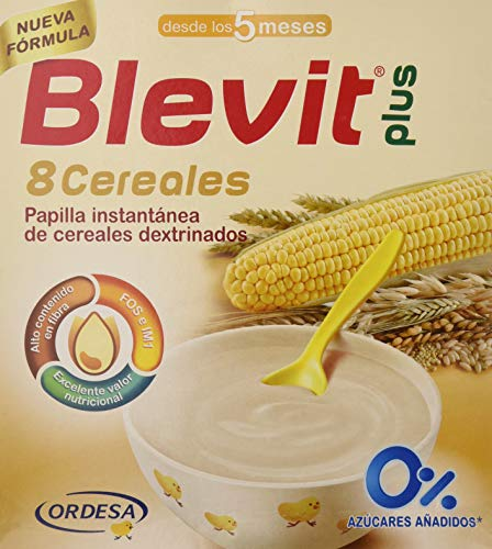 Blevit Plus 8 Cereales para bebé, 1 unidad 600 gr. A partir...