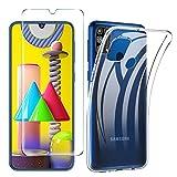 iBetter Cover Compatibile con Samsung Galaxy M31, Pellicola Protettiva in Vetro Temperato, Soft...