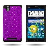 ZTE ZMAX Cute Case (Purple/Black) CoverON Protective Diamond Bling Hybrid for ZTE ZMAX Z970 - Slim Bumper Phone Cover