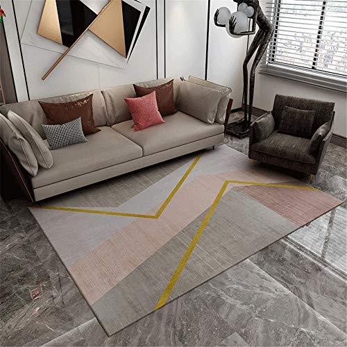 Modernas Diseño Geométrico gris Alfombra Salon de Salón grandes Decoracion Habitacion Antideslizante Alfombras baño baños vivero Aislamiento de suelo,sofá,dormitorio,decoración del hogar,80×160CM