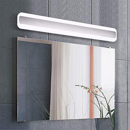 Spiegel wandspiegel make-up lamp muur lamp dressoir verlichting voorverlichting met acryl schakelaar voor make-up spiegel badkamerspiegel make-up spiegel chroom 70cm warm