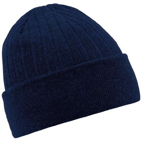 Beechfield - Bonnet à doublure Thinsulate - Adulte unisexe (Taille unique) (Bleu marine)