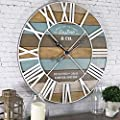 """FirsTime & Co. Maritime Planks Wall Clock, 24"""", Multicolor"""