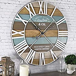 FirsTime & Co. Maritime Planks Wall Clock, 24, Multicolor