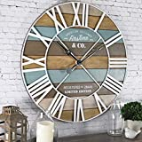FirsTime & Co. Maritime Planks Wall Clock, 24', Multicolor