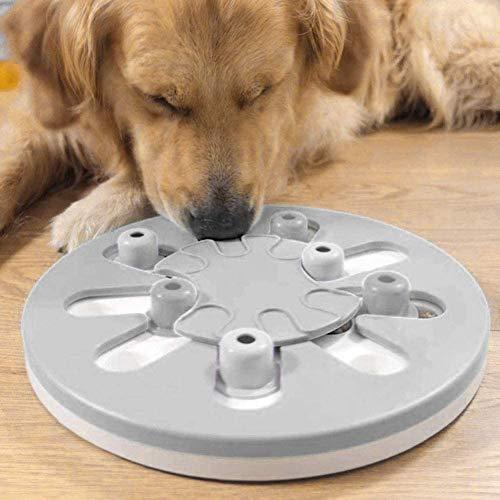 Hond Puzzel Feeder Toy, Slow Feeder Hondenbak, Dog Training Games Feeder Met Anti-Slip, Improve IQ Puzzle Bowl Voor Puppyhuisdier (Blue & Gray,Gray