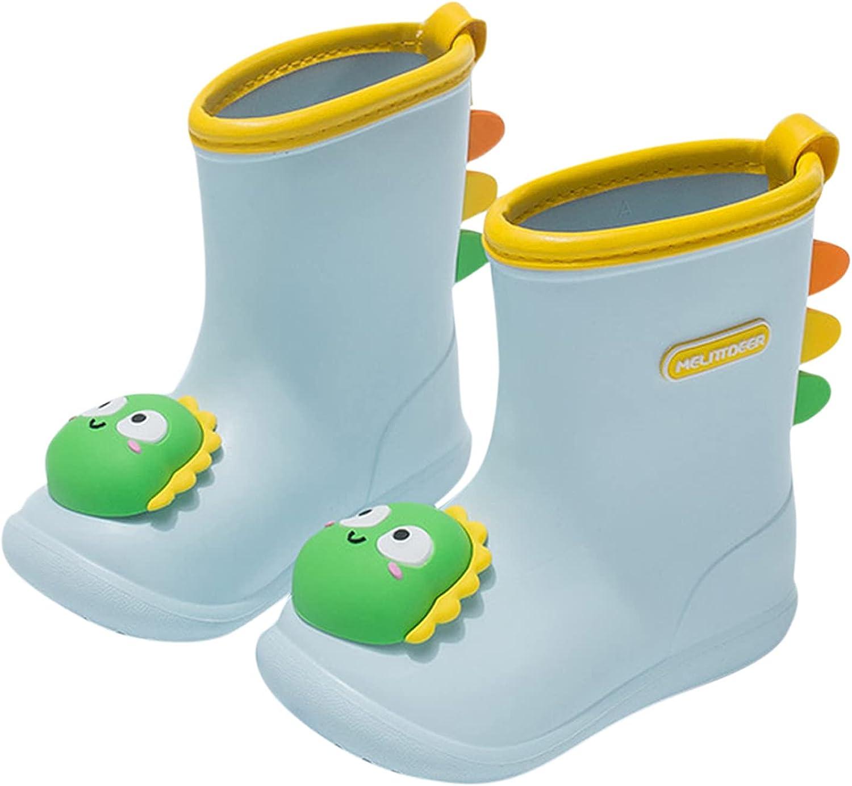 New mail order RUOYUN Kids Cute Rain San Jose Mall Boots Half Anti We Slip Length Waterproof
