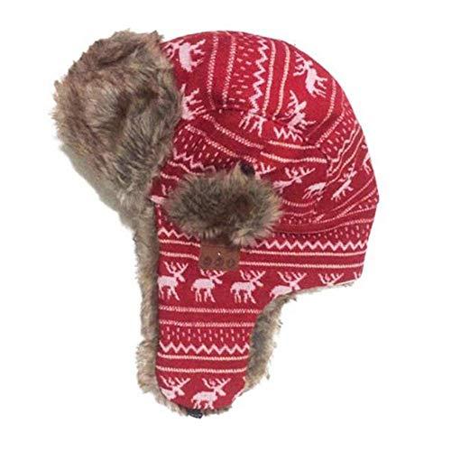 FANGSHUAI Sombrero Bluetooth, Unisex Invierno Sombrero de la Caza Casquillo de la Nieve de esquí Sombrero de Piel con oído máscara Facial Desmontable Flaps/Bluetooth 5.0 Auriculares del Receptor