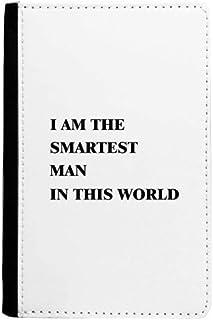 beatChong Soy La Bolsa Caso De La Cubierta Tarjeta De Cartera De Viaje Titular del Pasaporte El Hombre Más Inteligente