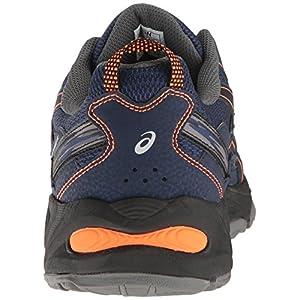 ASICS Men's Gel-Venture 5 Trail Runner, Indigo Blue/Hot Orange/Black, 9.5 M US