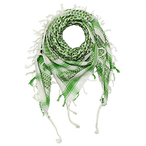 Superfreak Superfreak Palituch - weiß - grün-olivgrün - grün - 100x100 cm - Pali Palästinenser Arafat Tuch - 100% Baumwolle