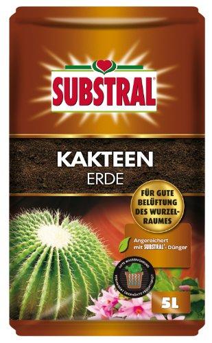 Substral Kakteenerde, Substrat, vorgedüngte Erde für alle Kakteen- und Sukkulentenarten - 5 l