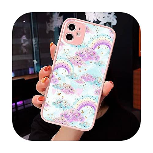 Moda caramelo colorido patrón teléfono caso mate transparente para iPhone 7 8 11 12 s mini pro x XS XR MAX Plus cubierta funda-a3-iPhone12