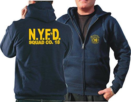 "Kapuzensweatjacke navy, ""Squad 18 - Manhattan"" New York City Fire Department"