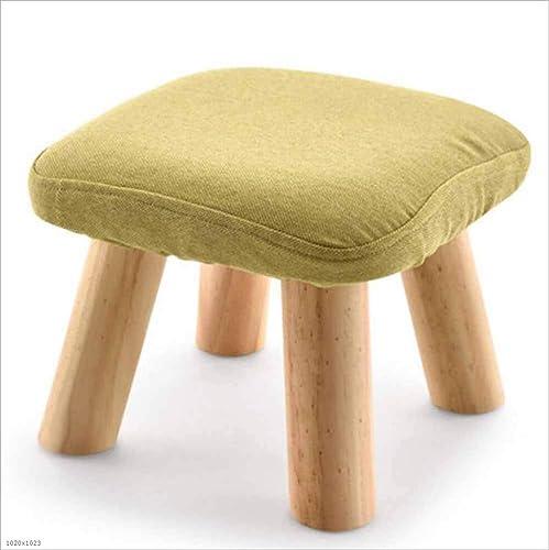 venderse como panqueques DENGDAI Reposapiés de Madera Maciza, Taburete de sofá sofá sofá de Tela Acolchado Taburete Simple Taburete Soporte de Cuatro Patas, 4  autentico en linea
