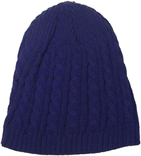 Nouvel Hiver Uni Bonnet - Violet - Taille unique