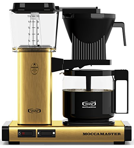 Technivorm Moccamaster 59163 KBG, 10-Cup Coffee Maker, 40 oz, Brushed Brass