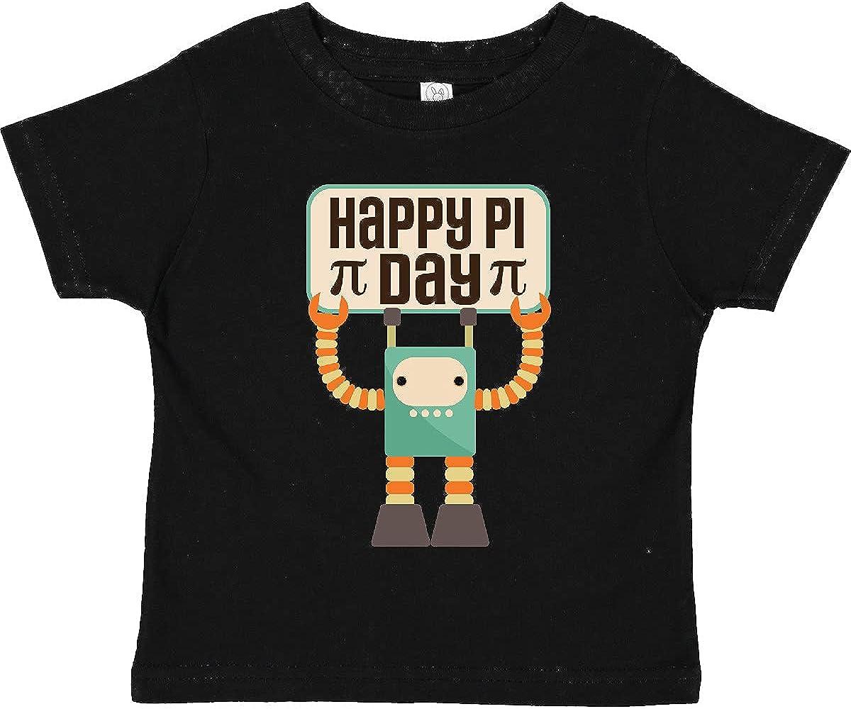 inktastic Happy Pi Day Robot Math Class Toddler T-Shirt