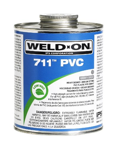 Weldon IPS 10121 Pint 711 Heavy Duty PVC Cement, Gray, 1-Pack