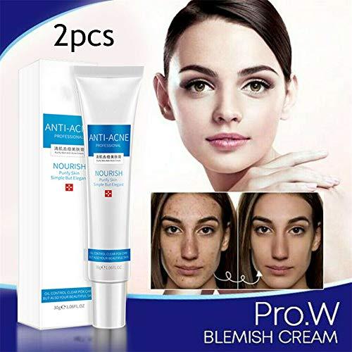Pro.w Blemish Cream, Enlève Les Taches Sur Le Visage, Pommade De Traitement, éclaircit Les Cicatrices, Rend Le Visage Propre Et Confortable (2pcs)