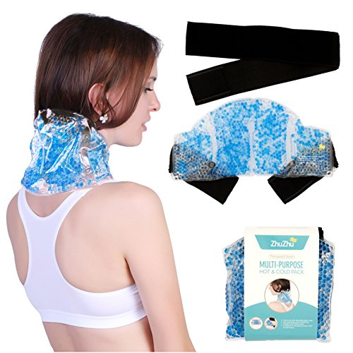 Zhu-Zhu Multi-Purpose Hot & Cold Pack Therapeutic Gel Beads - Neck, Joint,...