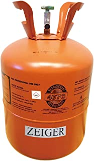 R407C, Refrigerant 407C, Full of R-407C, Net 25LB Tank, Suitable for AC/Single Unit/Multiple Connected Air Conditioning