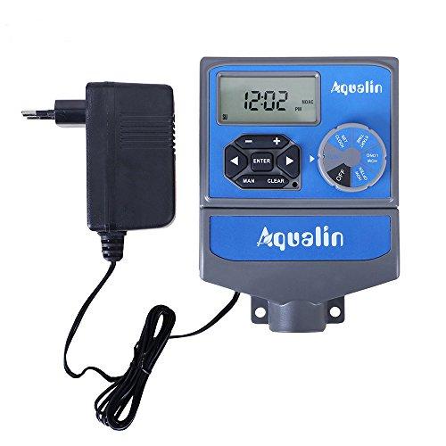 Aqualin 8 estaciones profesional de riego automático ordenador controlador de riego con transfómero estándar de la UE para jardín, granja, corte