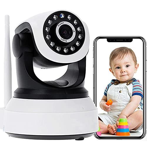 Monitor De BeBé IP Cámara De Interior 3G/4G SIM Tarjeta Audio Bidireccional 1080P FHD PTZ CCTV IP Vigilancia Cámara,Pan 355°/Tilt 90°,Alarma Remota,Detección De Movimiento,Visión Nocturna 【Cámara+64G】