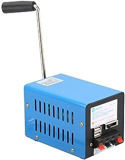 Xeroy Generador De Manivela Manual, Generador De Carga USB, Generador De Manivela Portátil, Generador De Cargador USB De Emergencia para Acampar Actividades Al Aire Libre