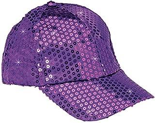 Baseball Cap for Women - Sequin Hat, Adjustable Strap Ball Cap