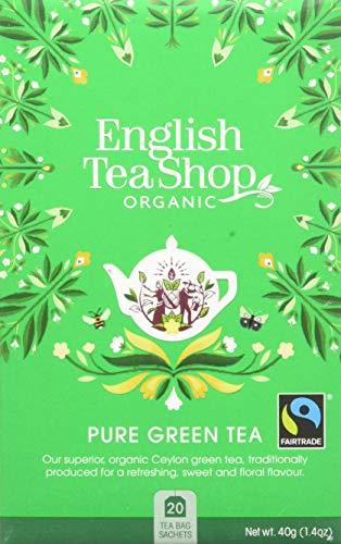 English Tea Shop - Pure Green Tea - 20 Tea Bag Sachets, 40 g