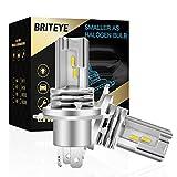 Briteye(まぶしい) 車/バイク LED ヘッドライト H4 車検対応 一体型 H4 LEDバルブ HI/LO切替 6500K ホワイトCREEチップ搭載 ファンレス (2個入)