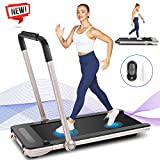 Wikole 2 in 1 Folding Treadmill, 2.25HP Portable Electric Treadmill with Bluetooth Speaker,...