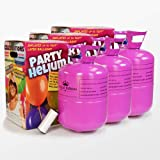 We Are Party Pack Maxi Triple - 3 bombonas de Helio de 0.42m3 para 150...