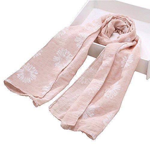 HuntGold Enfants Tournesol Imprimé Écharpe Chaude Foulard en Coton Hiver Beau Cadeau Rose