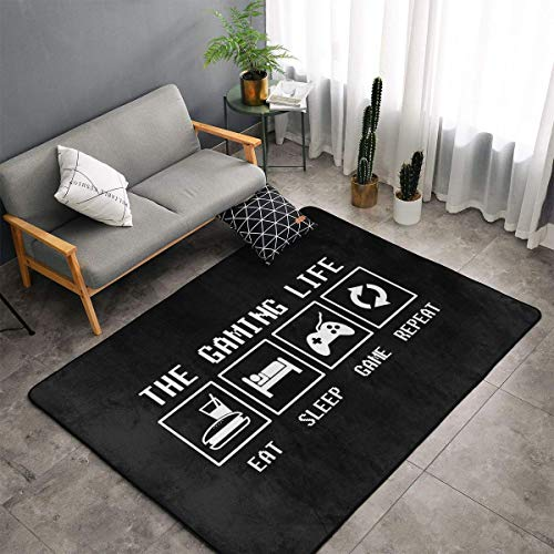 Jingclor The Gaming Life Area Teppiche, Schlafzimmer, Wohnzimmer, Küche, Matte, rutschfeste Bodenmatte, Türmatte, Kinderzimmer, Kinderspielteppich, Teppich für Yogamatte