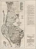 Historic Map - Map of Pinellas County Florida, 1925, F. B. Dolph - Vintage Wall Art 32in x 44in