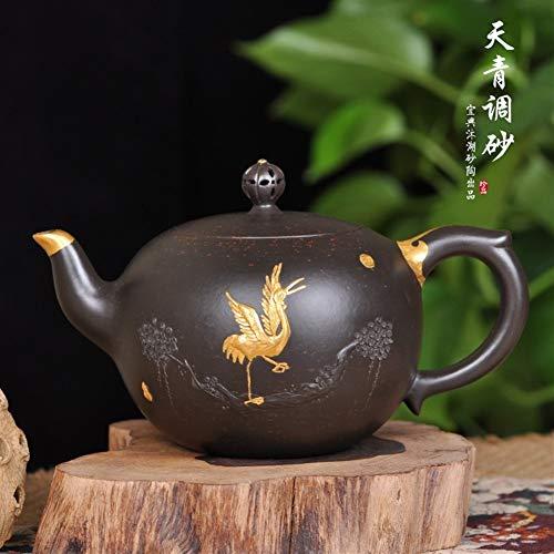 HePing Wu Qingni beschrieben Teekanne Teekanne Anstrengung Gold Gesundheit Tee Teekessel Set (Size : 420cc)