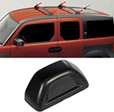 OCPTY Black Roof Rack Cover End Replacement Fit for 2003-2011 Honda Element Sport Utility 1X Roof Rack Crossbars End Covers