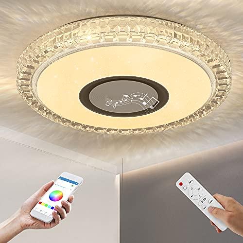 lampadario camera da letto a soffitto OTREN Lampada da Soffitto a LED RGB con Altoparlante Bluetooth