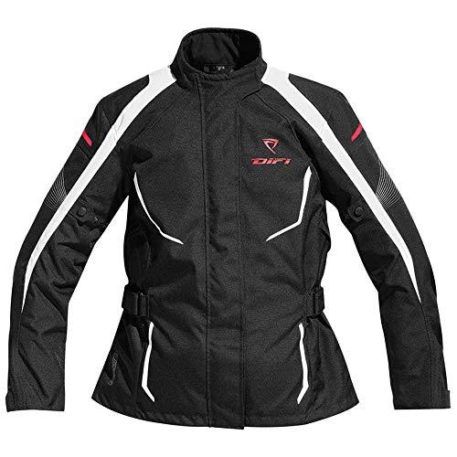 Difi KYRA AEROTEX® Motorradjacke Damen Farbe schwarz/weiß, Größe 48