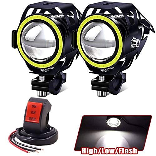 Motorcycle Lights Bulb Fog Headlights, U7 LED Driving Light Spotlight...